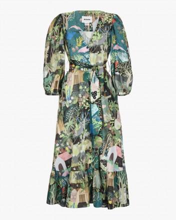 Fiera Dress in Selva Print
