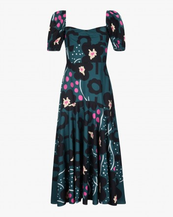 Sidra Dress in Orquidea print