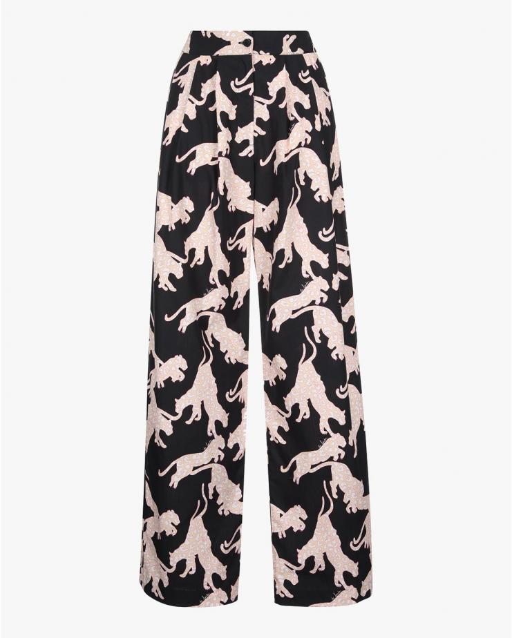 Cacao Pants in Puma Print