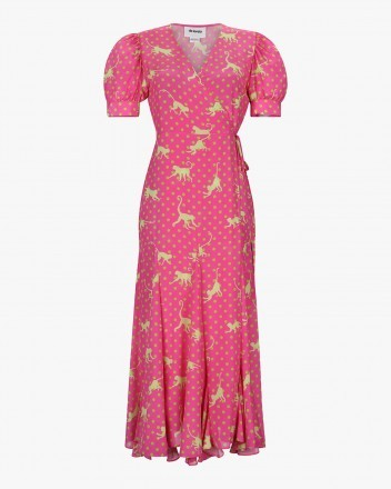 Izula Dress in Monkeys Print