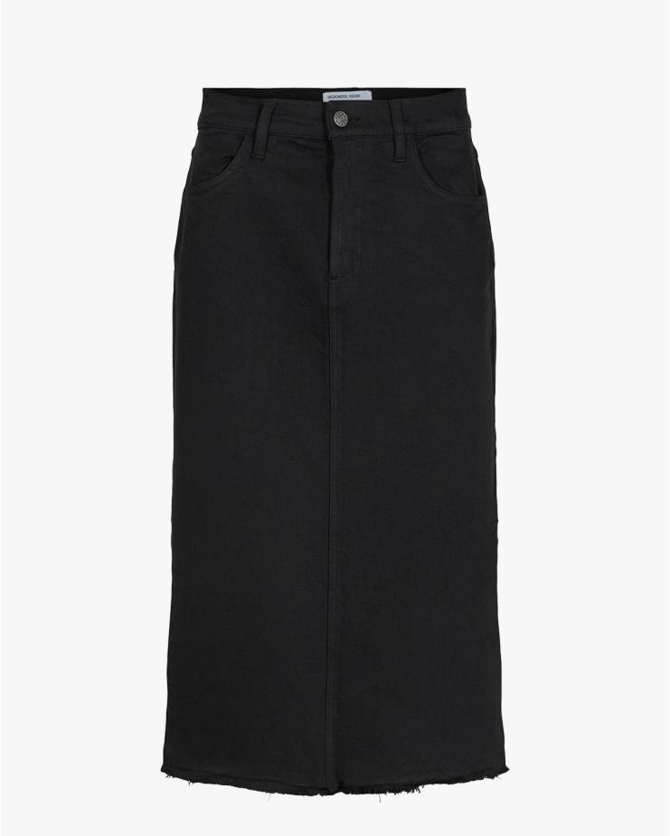 Bellis Long Skirt in Black