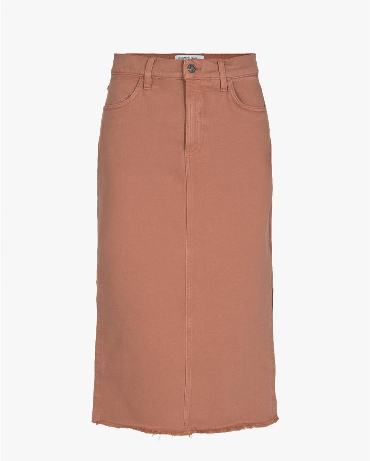 Bellis Long Skirt in Brown
