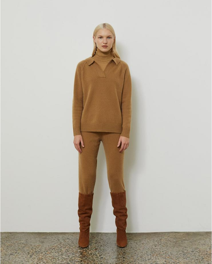 Demi Pant in Light Brown
