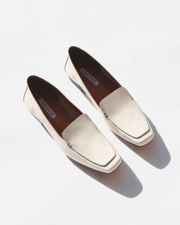 Garçon Loafers in Chalk