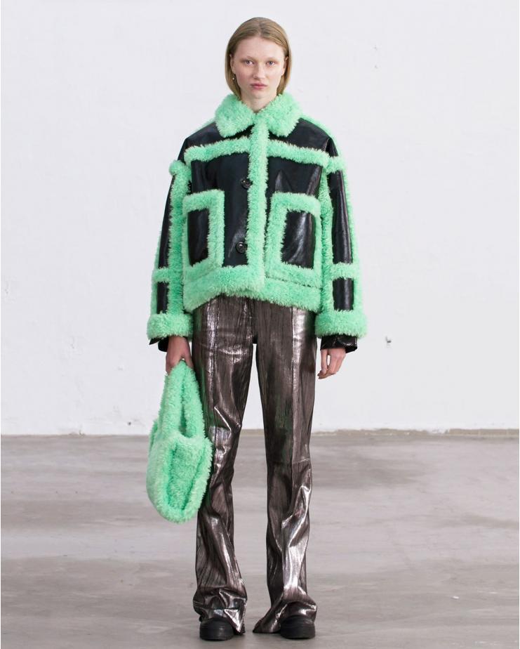 Fay Jacket Black & Green