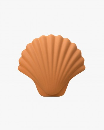 Seashell vase Brown