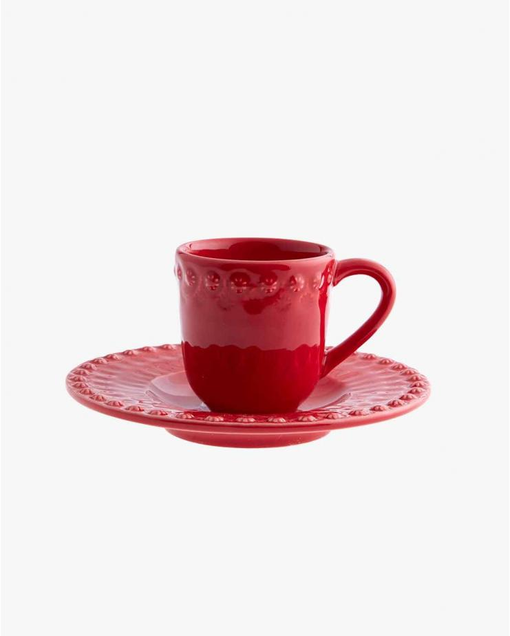 Fantasy Coffee Cup With Red Saucer