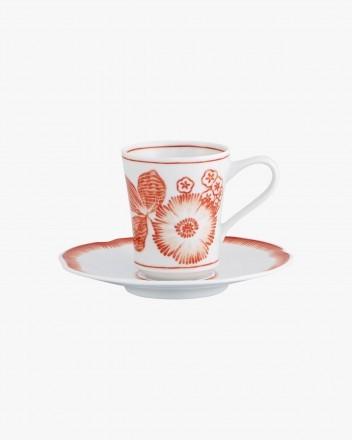 Coralina Coffee Cup Saucer Com
