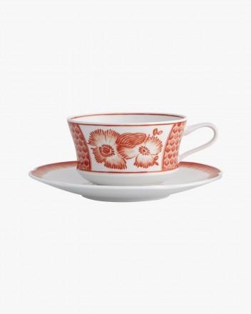 Coralina Tea Cup And Saucer