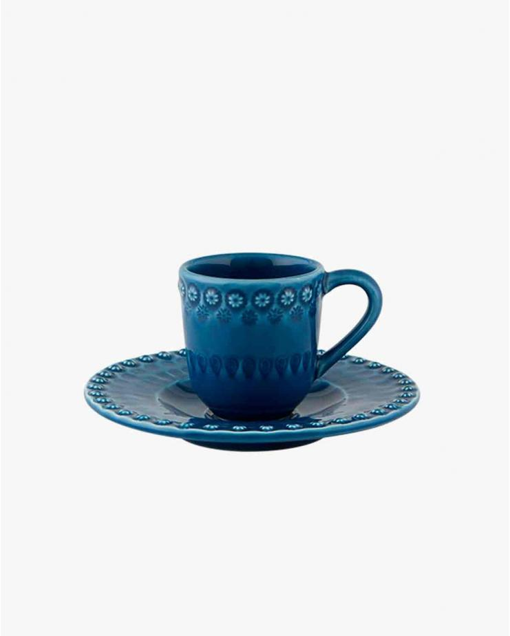 Fantasy Coffee Cup And Saucer Blue