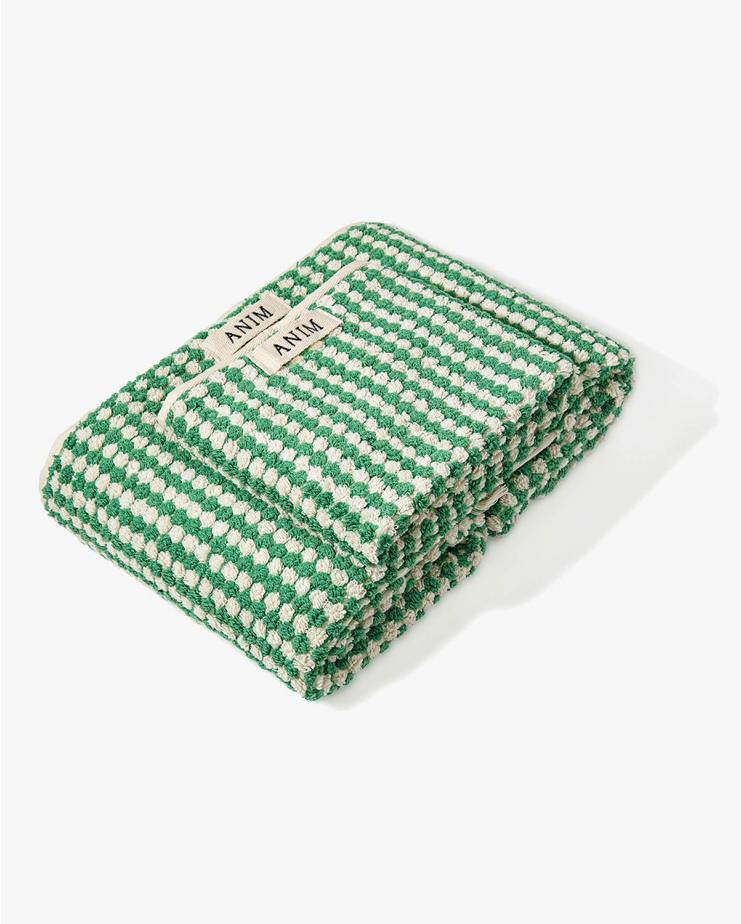 Checkered Terry Bath Towel...