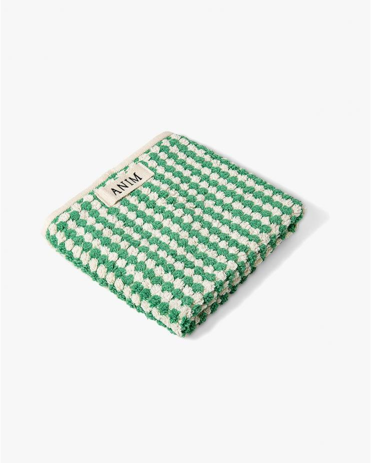 Checkered Terry Head Towel...