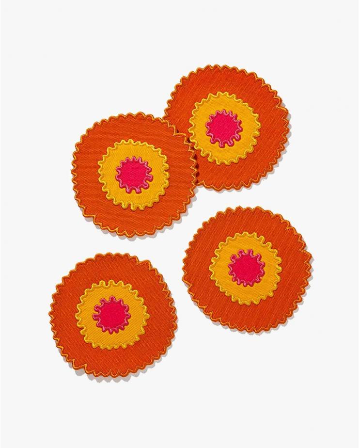 Helios Coaster Set Orange...
