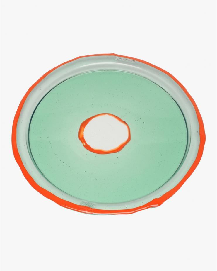 Round Tray Try-Tray L Aqua...