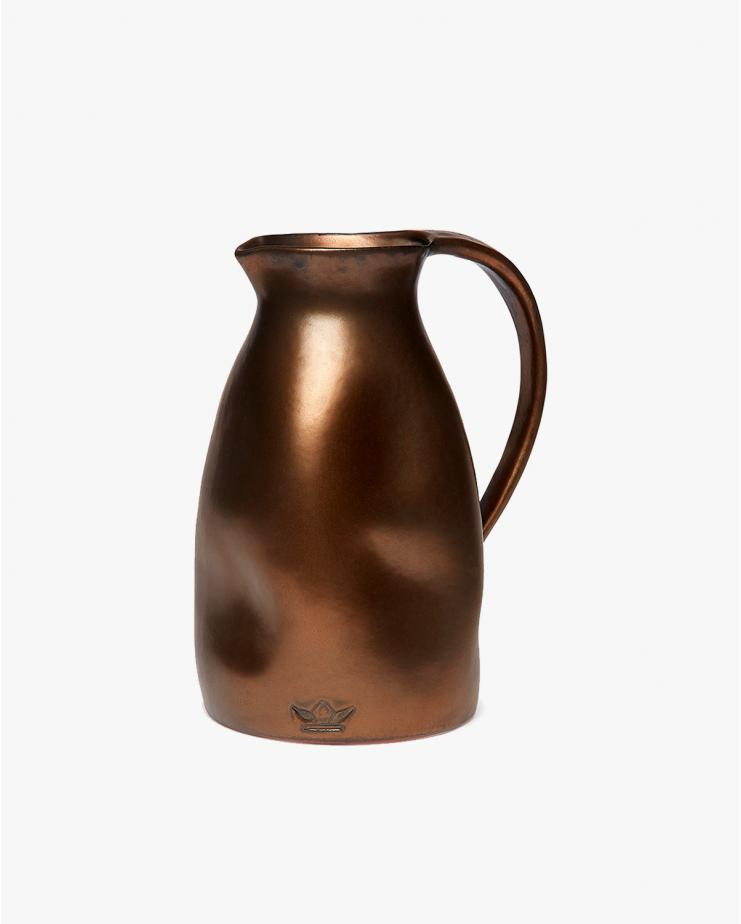 Dented Jug in Platinum matt