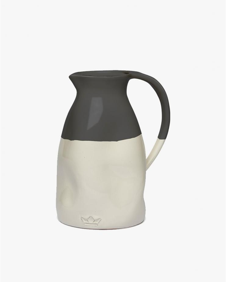 Dented Jug in White and...