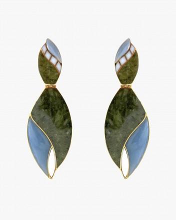 Cacao Earrings in Green
