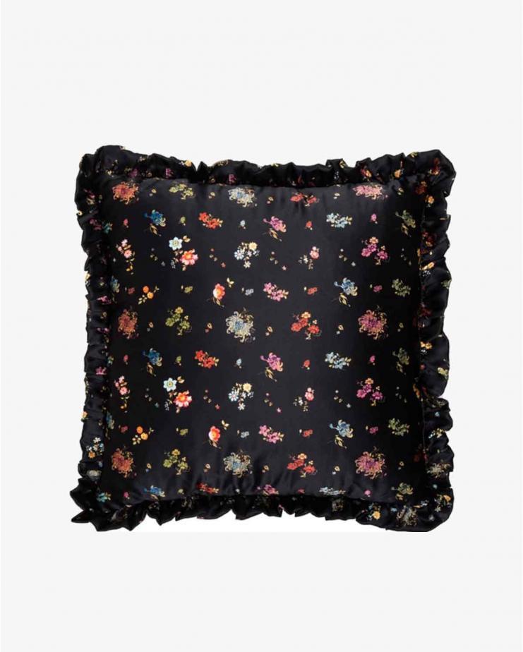 Black woven floral &...