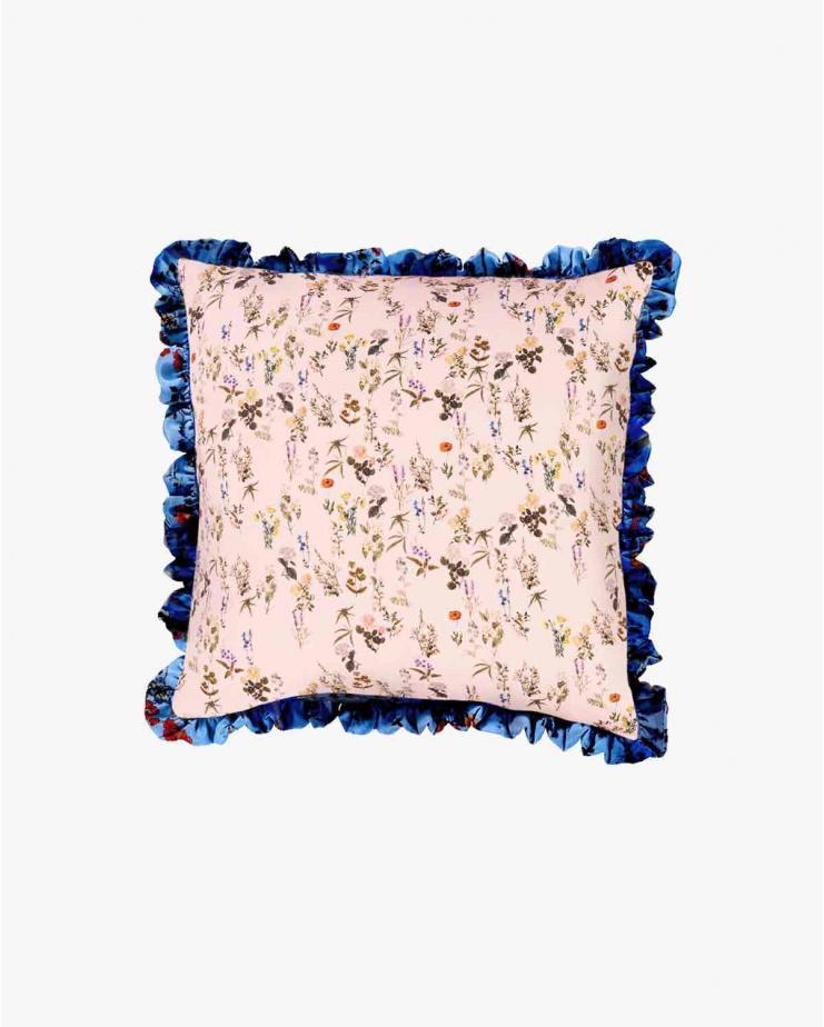 Blue plastic floral & pink...