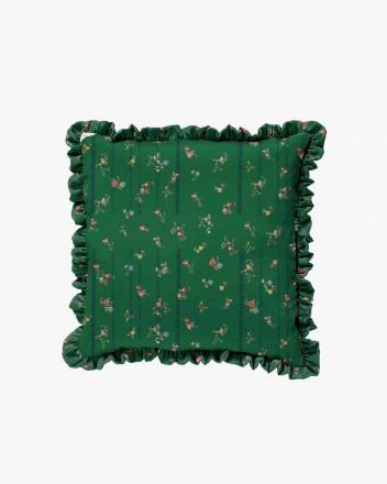 Green etched floral & black...