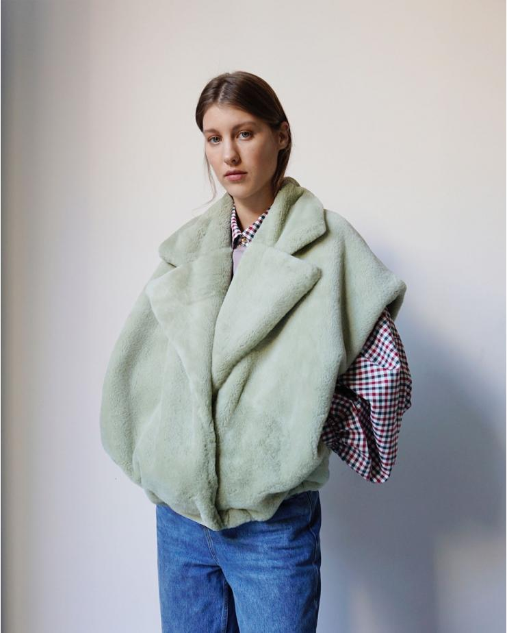 Mila Faux Fur Vest -...