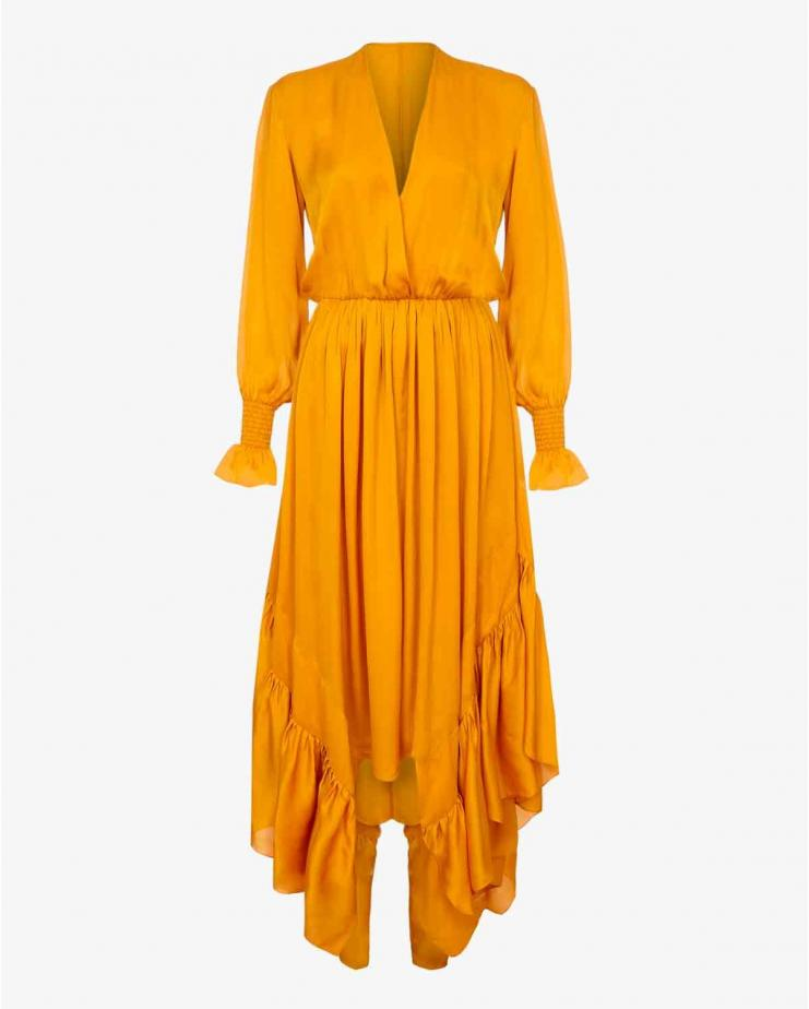 Indira Dress in Saffron