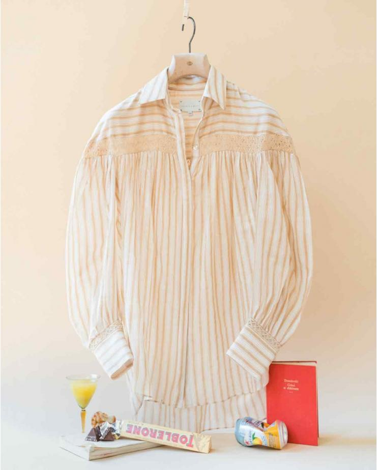 Amelia Shirt in Raffia Stripes