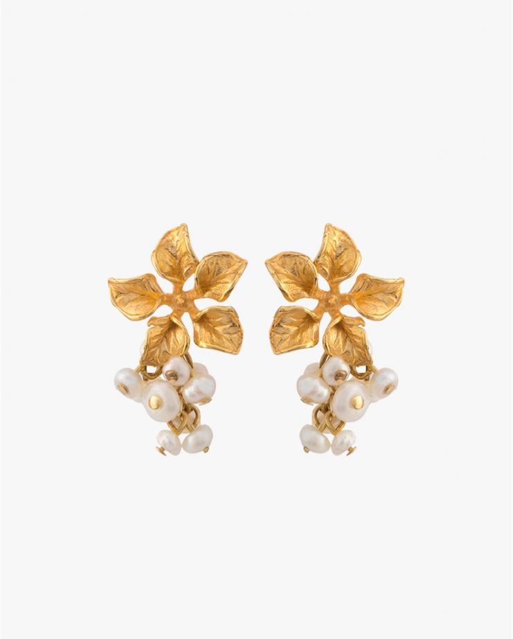 Magnolia Earrings in Ivory