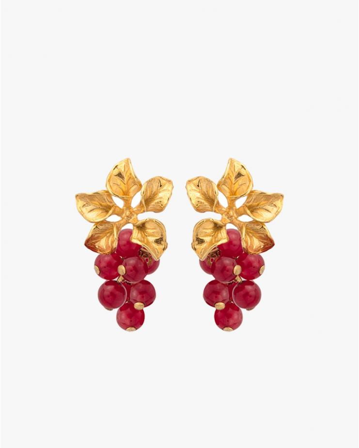 Magnolia Earrings in Red
