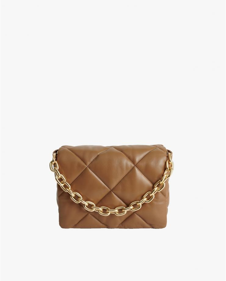 Brynnie Leather Bag in Sand