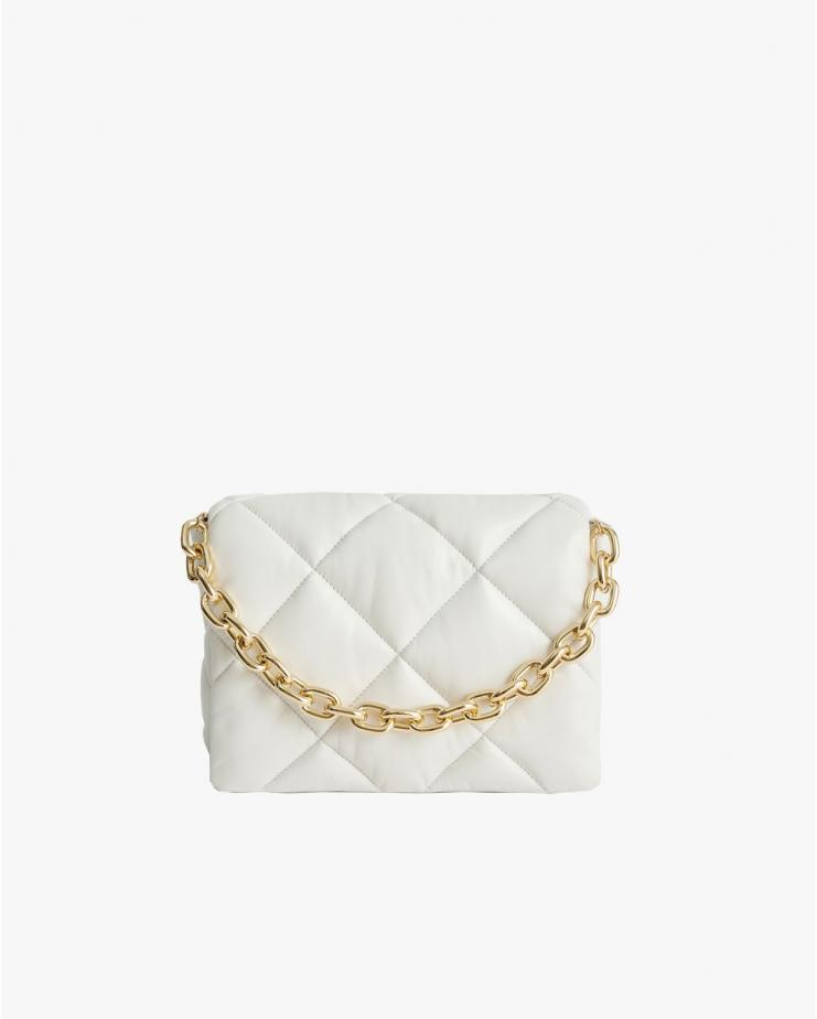 Brynnie Leather Bag in White