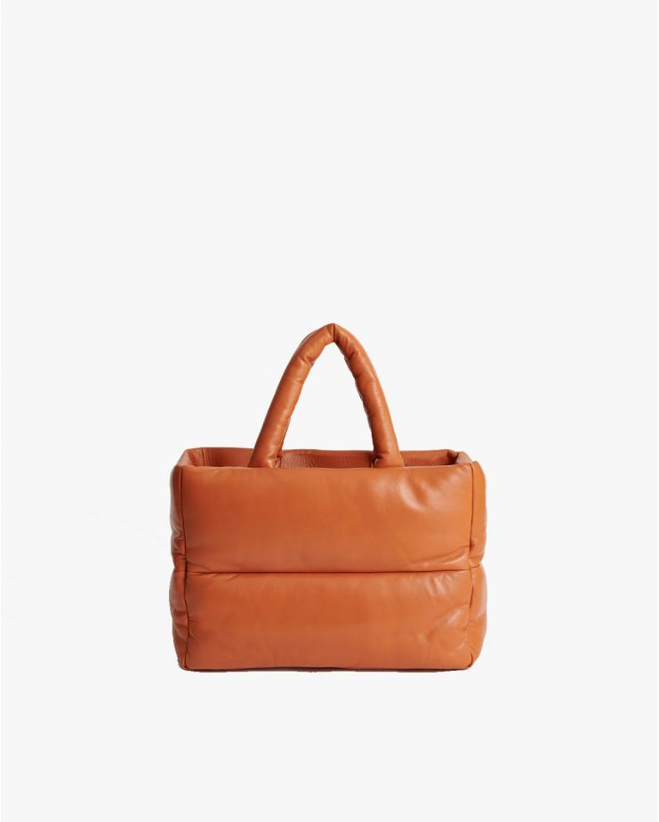 Daffy Leather Bag in Mandarine