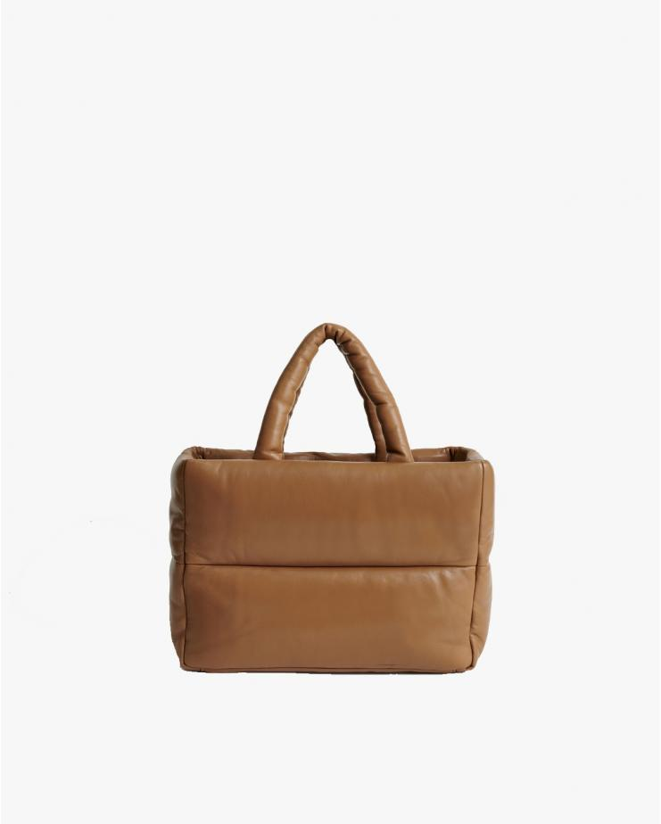 Daffy Leather Bag in Sand
