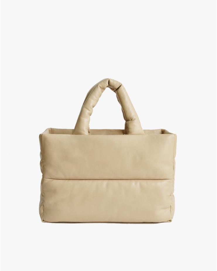 Dafne Leather Bag in Warm Sand