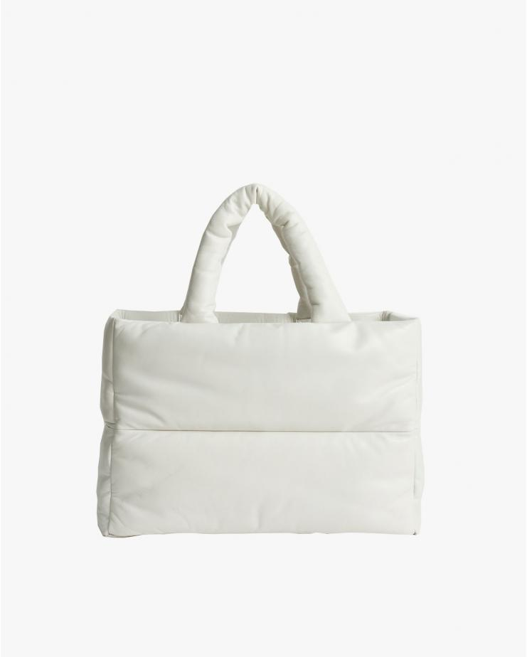 Dafne Leather Bag in White