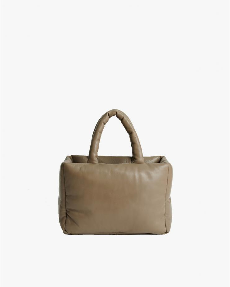 Davi Leather Bag in Sand...