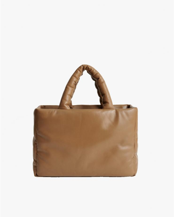 Davina Leather Bag in Sand