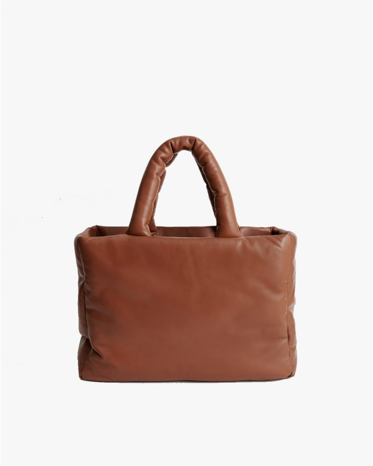 Davina Leather Bag in Tan