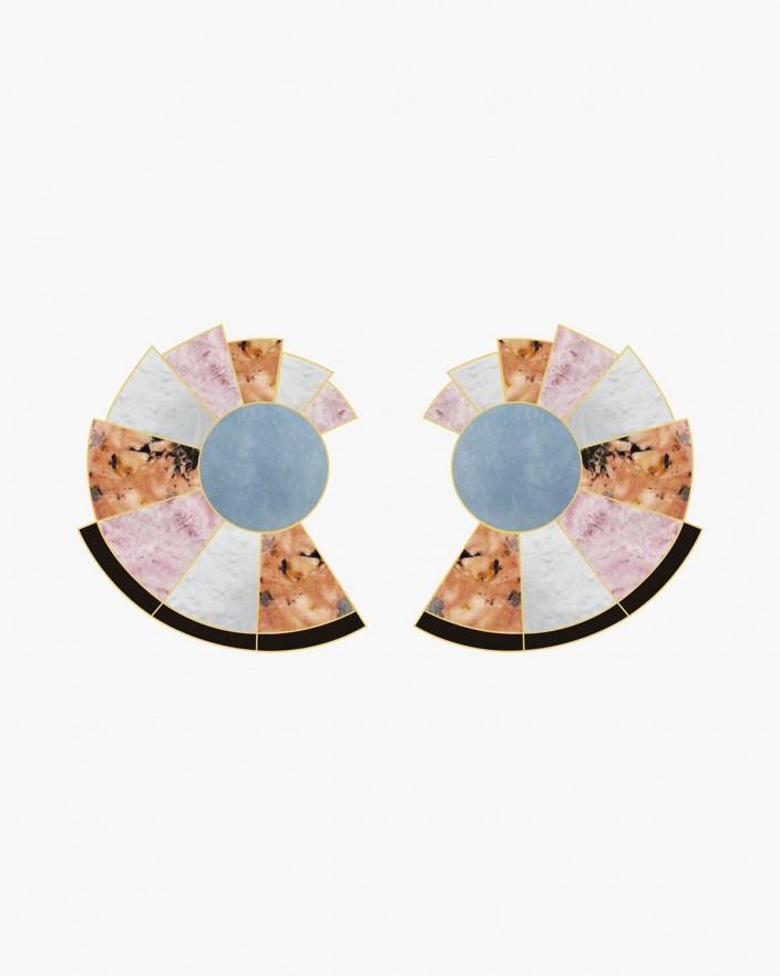 Nautilus Coral Reef Earrings