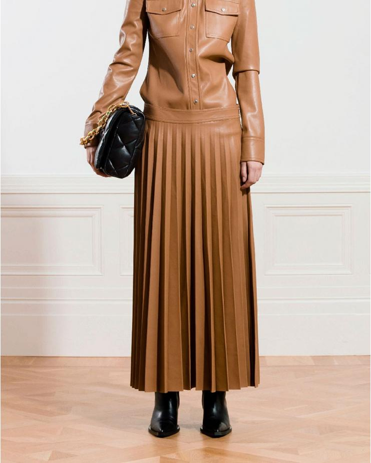 Haven Faux Leather Skirt in...
