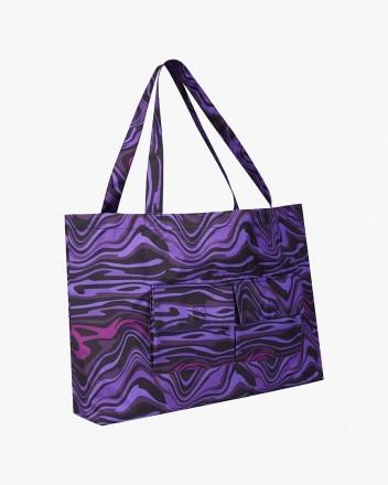 Wave Tote Bag in Purple