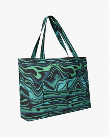 Wave Tote Bag in Green