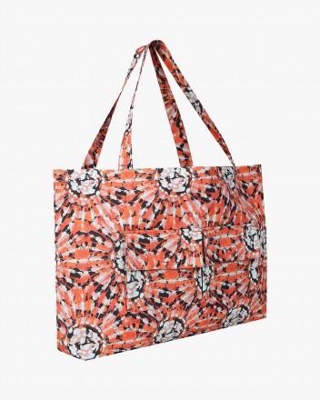 Tie Dye Tote Bag in Orange