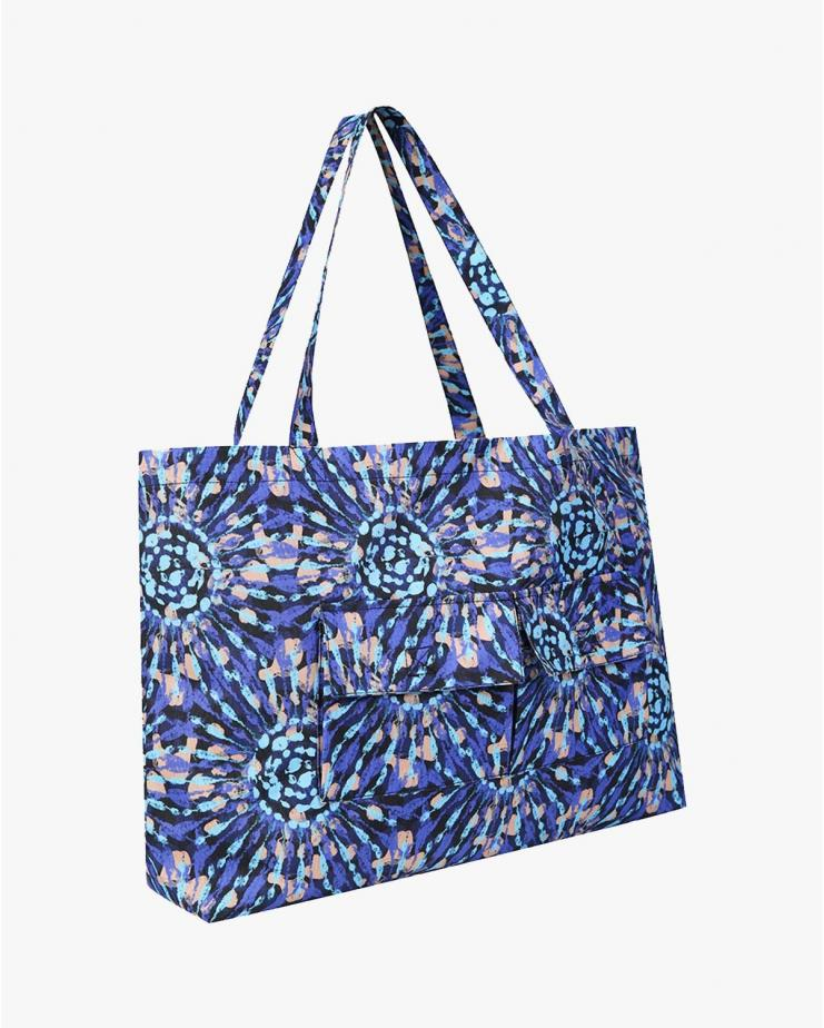 Tie Dye Tote Bag in Blue