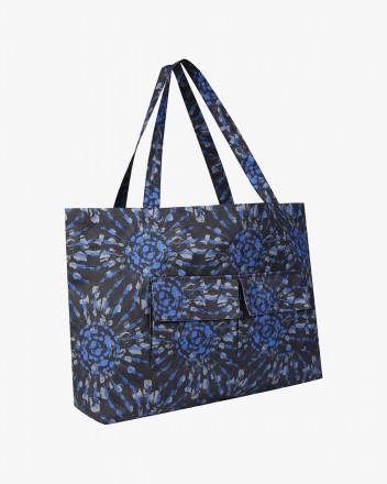 Tie Dye Tote Bag in Black