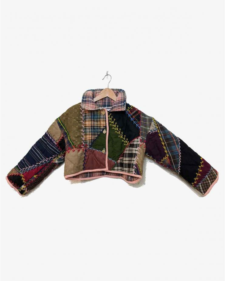 Crazy Quilt Cropped Coat