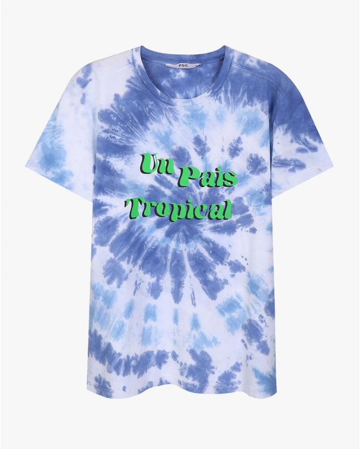 Tie Dye Tropical T Shirt
