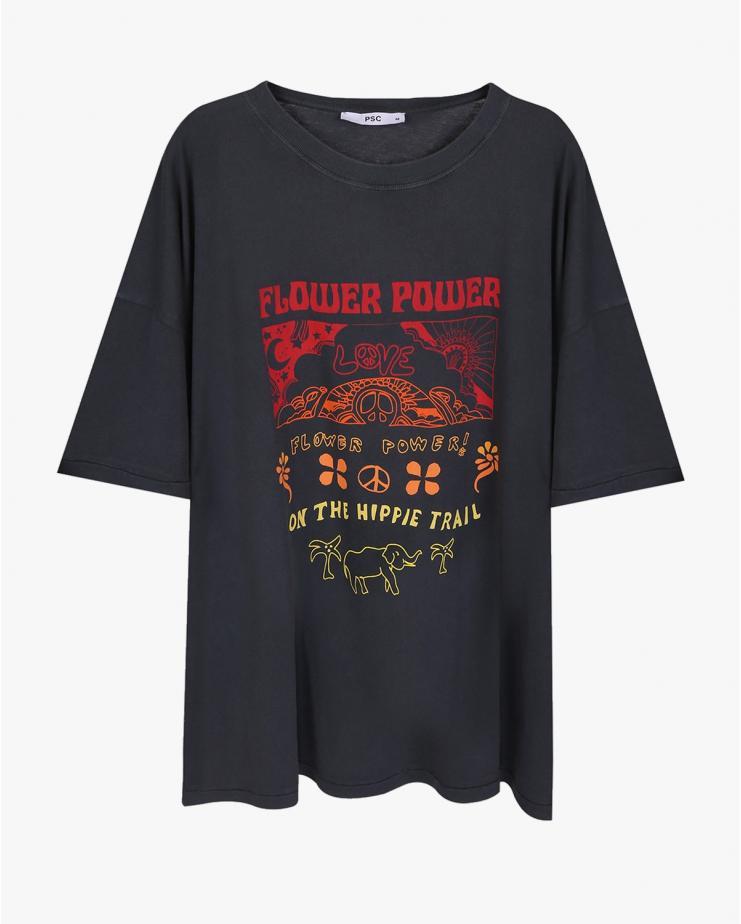 Flower Power Oversized T Shirt