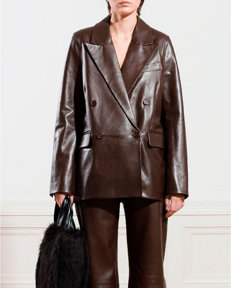 Bristol Leather Blazer in...