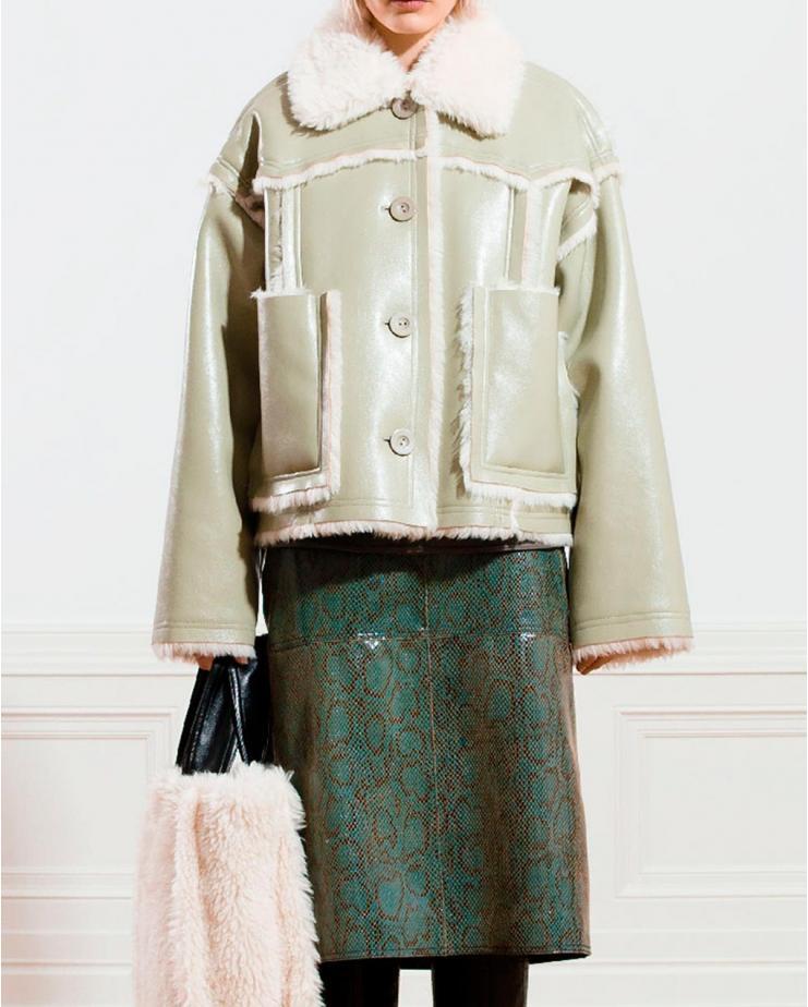 Callie Cropped Fur Jacket...